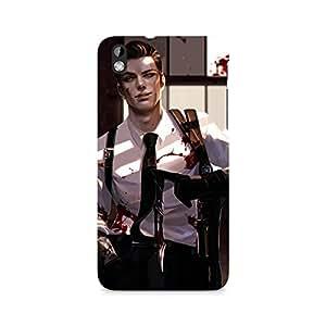 Mobicture Man Illustrated Premium Designer Mobile Back Case Cover For HTC Desire 816