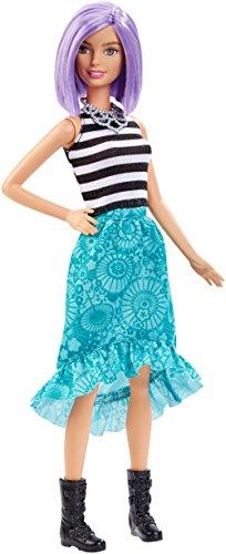 Mattel-Barbie-DGY59-Modepuppen-Fashionista-mit-blauem-Stufenrock