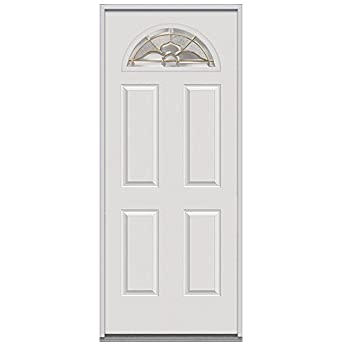 National door company z001526r steel replacement prehung right hand in swing entry door master for Exterior door replacement company