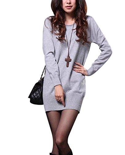 molly-donna-manica-lunga-pullover-abiti-maglione-grigio-chiaro-collare-basso
