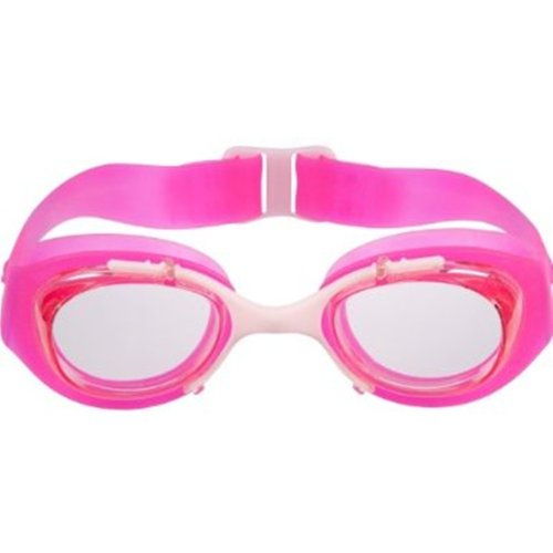 DECATHLON Children Kid Adjustable Nose Bridge Swim Goggle,red