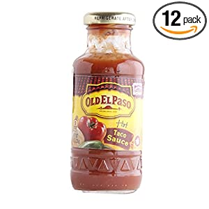 old el paso hot taco sauce small 8 ounce pack of 12