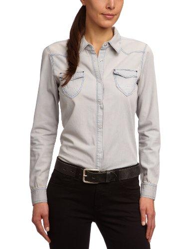 Jeans Damen Bluse 70141-19  Gr. 38 40  M   Grau  Grey