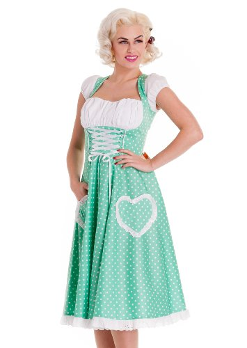 Hell Bunny Green Oktober Dress L - UK 12 / EU 40