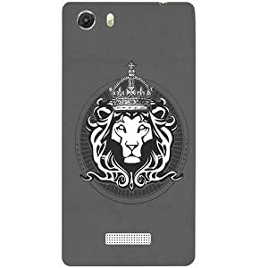 Casotec Lion King Design Hard Back Case Cover for Micromax Canvas Unite 3 Q372
