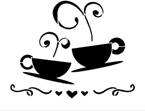 Tea Coffee Love Art Stencil-15quot X 18quot
