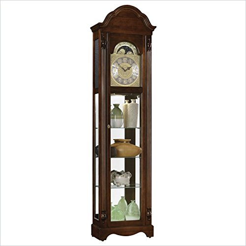 Ridgeway Timeless Accents Clarksburg Curio Grandfather Clock