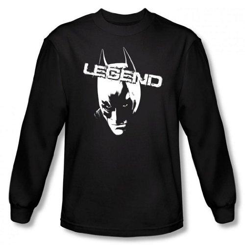 Dark Knight Rises - Batman Legend Men's Long Sleeve T-Shirt, Black, Large