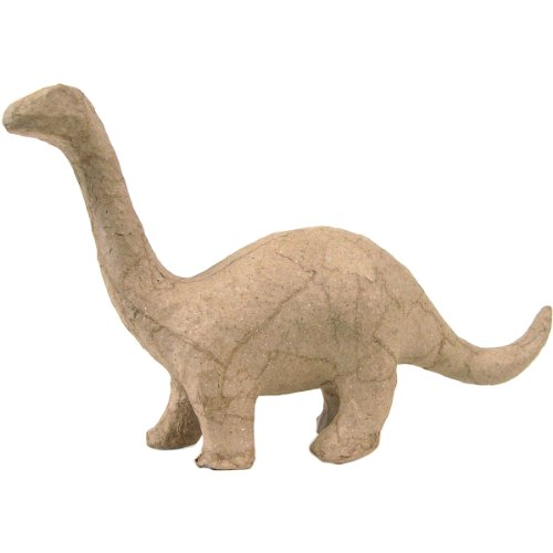 "Paper Mache Figurine 4.5""-Brontosaurus"