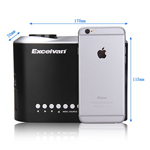 Excelvan mini led multimedia projector for iphone 6s ipad for Mini projector for ipad best buy