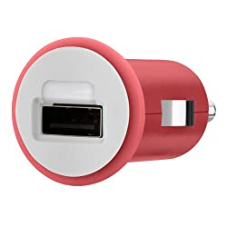 Belkin Micro Car Charger 10W/2.1Amp, Red