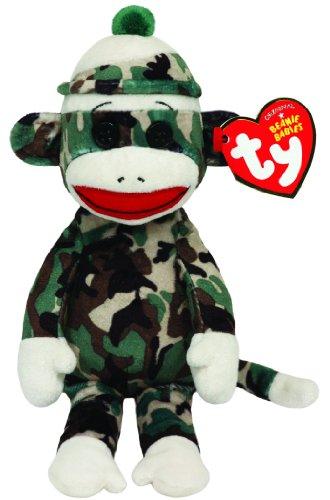 Ty Beanie Babies Sock Monkey Camouflage Plush - 1