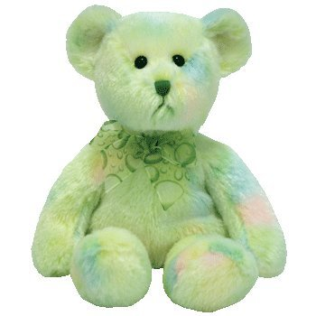 Buy TY Beanie Baby Stuffed Animal – Flora Green Bear