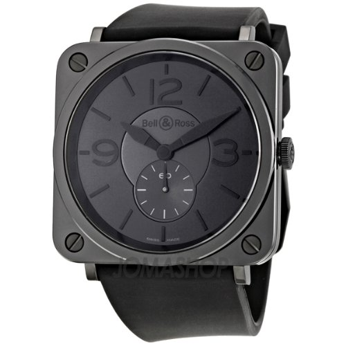 Bell and Ross Phantom Black Dial Ceramic Mens Watch BRS-BLC-PH/SBR