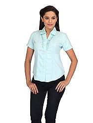 lol BLUE Color Plain Formal Top for women