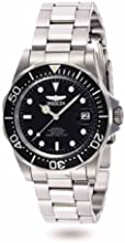 Invicta Pro Diver Men's Automatic Watch with Black Dial  Analogue display on Silver Stainless Steel Bracelet 8926