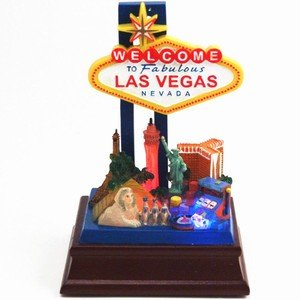 Las Vegas Strip Welcome Model 5 Inches Tall Lights Up ! Unique Gift