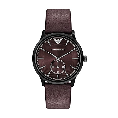 Emporio Armani Leather Quartz Analog Unisex-Watch AR1801
