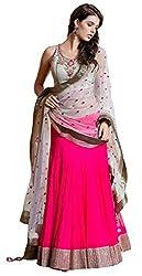SRP Fashion Selection Women's Georgette Lehenga Choli(SRP-Grey& Pink lehenga_Free Size)