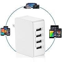 USB Charger 25W 4-Port USB Desktop Wall ...