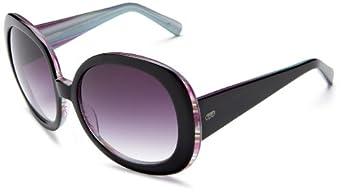 Colors in Optics Women's CS107S Resin Sunglasses,Black Frame/Gradient Smoke Lens,one size