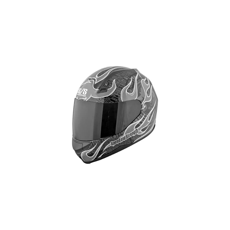 Speed And Strength SS700 Trial By Fire Silver Full Face Helmet (S)