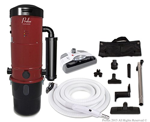 Buy Discount Prolux CV12000 Central Vacuum Unit System with Electric Hose Power Nozzle Kit and 25 Ye...