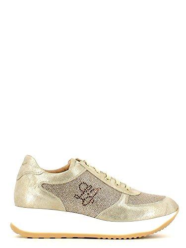 Liu Jo Girl B22142A Sneakers Zeppa Donna Oro 38