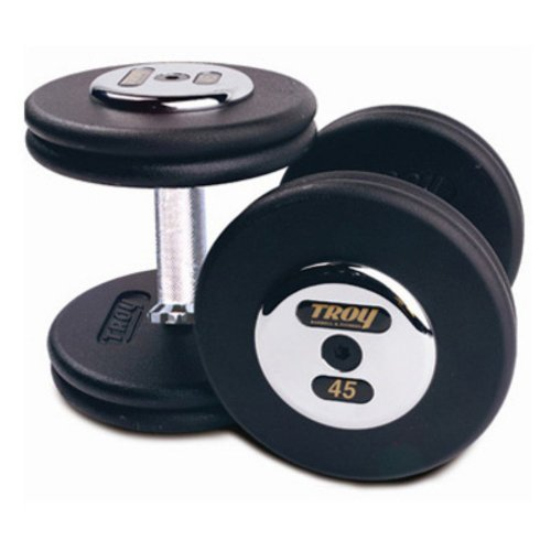 York Barbel Medial Grip Rubber Coated Pro Style Dumbbell Pairs 30 lb