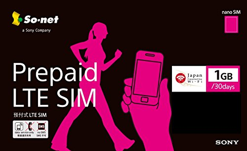 So-net Prepaid LTE SIM プラン1G ナノSIM