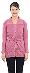 Dynamis Women/Girls's Knitwear Cardigan (Purple ,Medium)