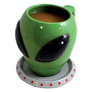 Big Mouth Toys The Alien Cup and Saucer Mug