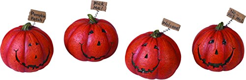 Jack O Lantern Figurines - Set of Four