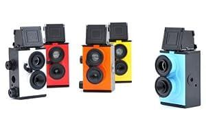 Lomo Recesky Twin Lens Reflex Camera DIY TLR 35mm with Assemble Tool & Roll film Blue color