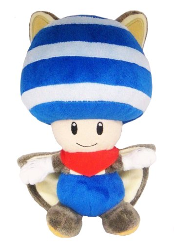 Little Buddy Toys Nintendo Flying Squirrel Toad 8 Plush, Blue - 1