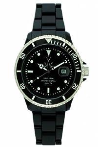 Unisex Watch Toy FL23BK Black Plastic Resin Case and Bracelet Quartz Black Dial