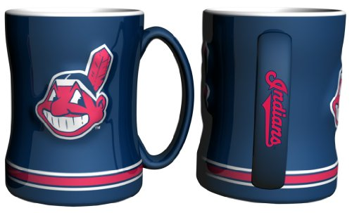 Cleveland Indians Coffee Mug - 14Oz Sculpted