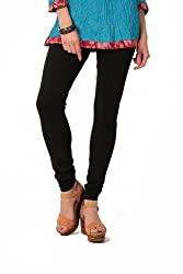 Crazy Sutra Women's Latest Fashion Combo - High Quality Black Legging with Black Dupatta