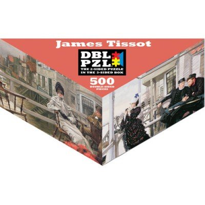 James Tissot DBL PZL - 500pc Double-Sided Jigsaw Puzzle by Pigment & Hue