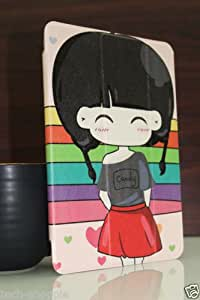 Techs The Cute Girl Magnetic Smart Carry Case Cover For Apple Ipad Mini / Mini 2