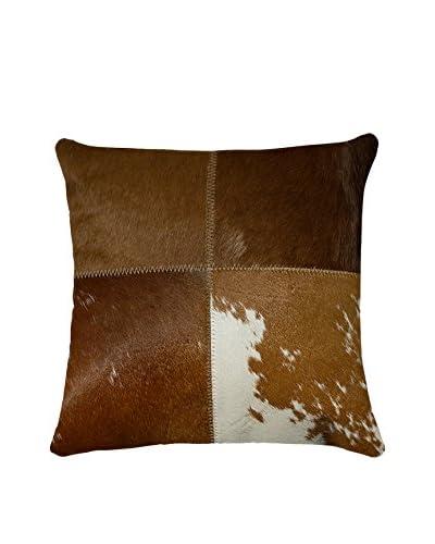Torino Quatro Large Pillow, Brown/White