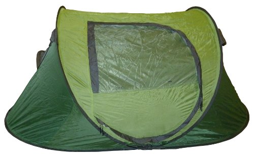 Highlander Donington 2 Man Pop Up Quick Pitch Tent Green, festival xmas present.