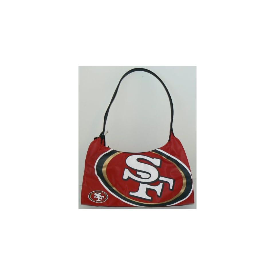 NFL Officially Licensed San Francisco 49ers Hyper Logo Hobo Style Purse Handbag