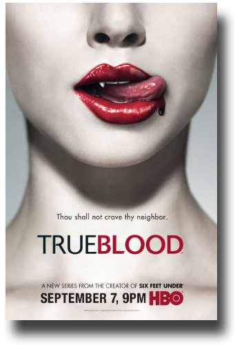 True Blood Season 1 Poster TV 11x17 Jim Parrack Anna Paquin Stephen Moyer Sam Trammell