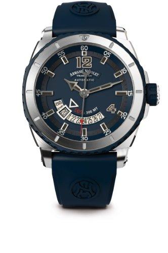 armand-nicolet-herren-armbanduhr-automatik-mit-blau-zifferblatt-analog-anzeige-und-blau-gummiband-a7