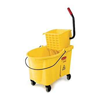 Rubbermaid Commercial FG618688YEL WaveBrake Mop, Bucket, and Wringer System