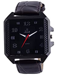 Saint Analogue Black Dial Men's Watch (A006)