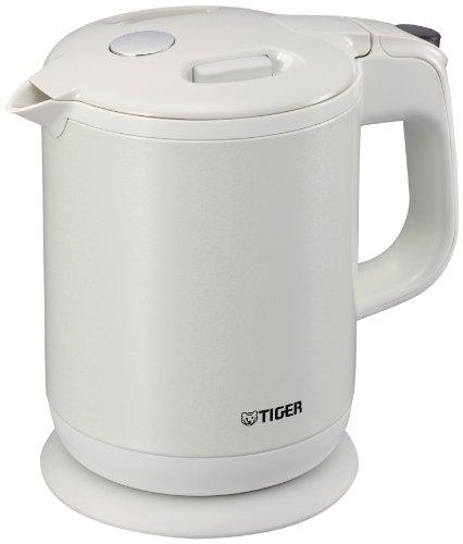 TIGER 蒸気レス 電気ケトル わく子 0.8リットル パールホワイト PCH-G080-WP