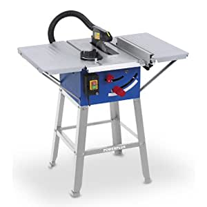 "POWERPLUS 1500 Watt 10"" 250mm Table Saw Bench Angled Cuts 240v with Stand POW8561 - 2 Year Home User Warranty"