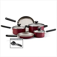 Farberware Premium Nonstick 10 Piece Cookware Set Red
